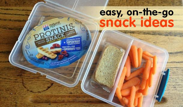 easy on the go snack ideas
