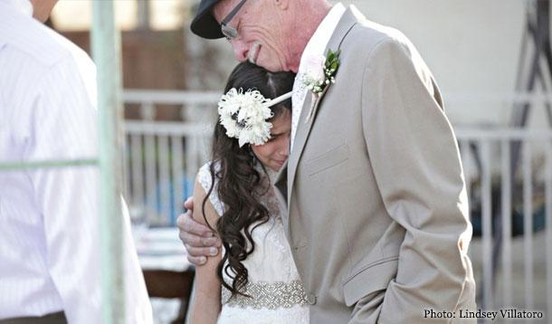 Father Walks 11-Year-Old Daughter Down Wedding Aisle