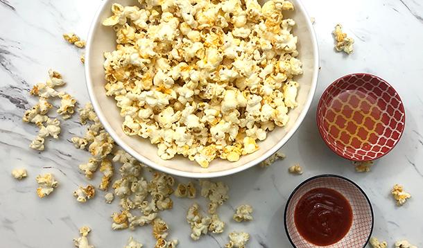 Honey and Sriracha Popcorn