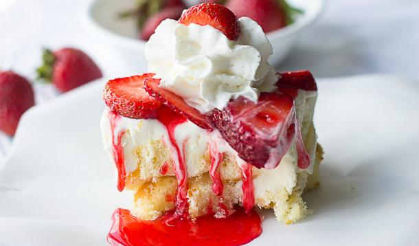 What Are Sweet Dreams Made Of? This Strawberry Shortcake Ice Cream Cake