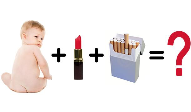 baby lipstick and cigarettes