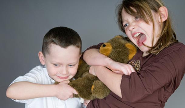 kids fighting, sharing