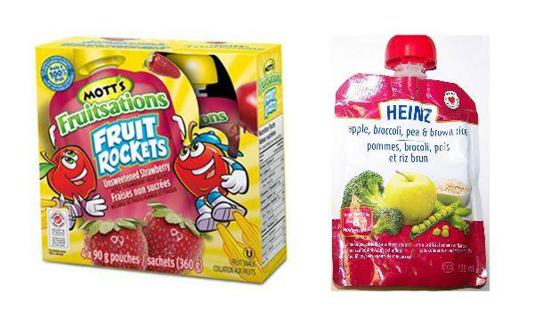 Heinz and Motts fruit baby food recall