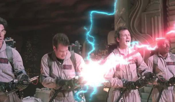 The Ghostbusters take on Gozer