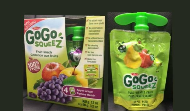 gogo squeez fruit pouch recall canada