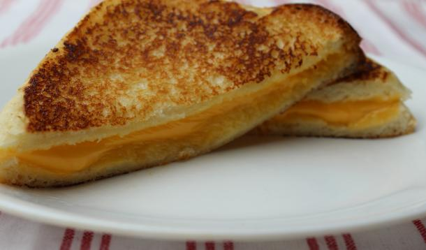 make a better grilled cheese sandwich by using mayonnaise instead of butter to spread your bread