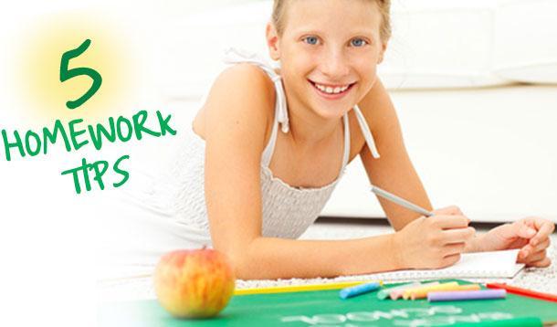 five homework tips for kids