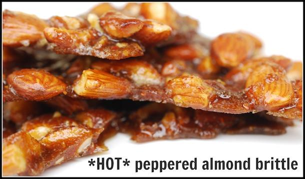 cayenne peppered almond brittle