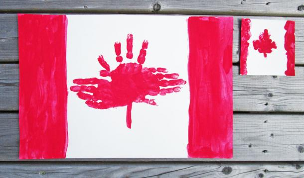 Make These Adorable Handprint Placemats For Canada Day