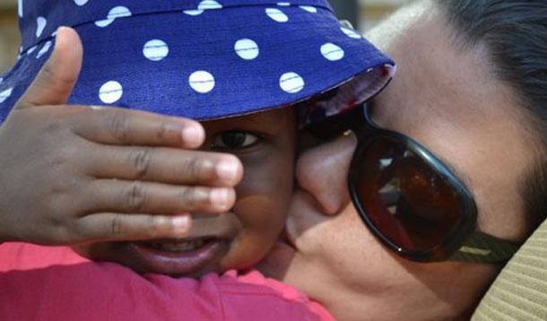 jackie hugging daughter