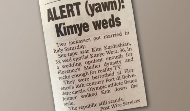 kanye west wedding