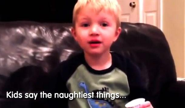 kids saying naughty words