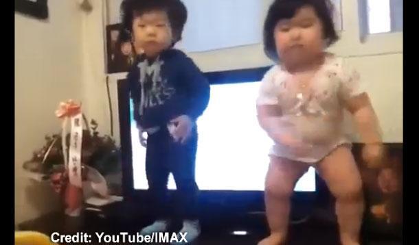korean babies dancing
