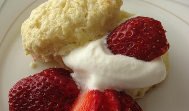 Lemon Scones with Strawberries and Cream Recipe