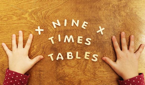 Math Trick Nine 9 times tables