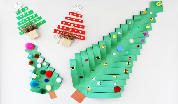 5 Minute Super Cute Christmas Tree Crafts Yummymummyclub Ca