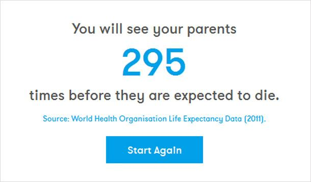 App Predicts How Many Times You Will See Your Parents Again