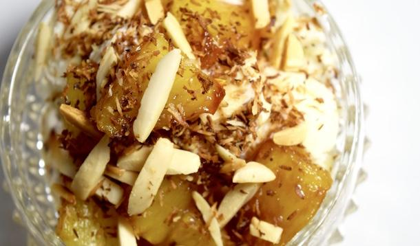 toasted pineapple coconut dessert
