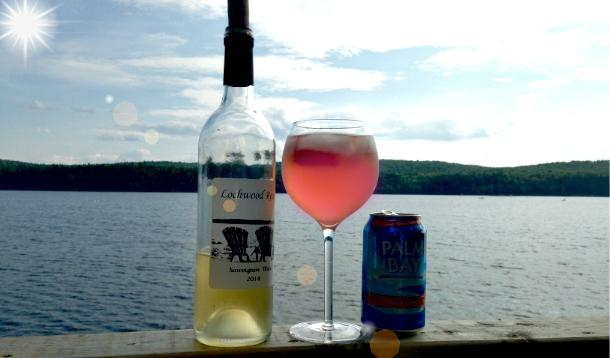 How to make a Pink Lady white wine spritzer