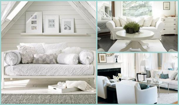 I have always loved decorating with white and my home is full of white  furniture. It goes with everything and brightens any room.