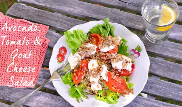 Crunchy Avocado, Tomato & Goat Cheese Salad Recipe