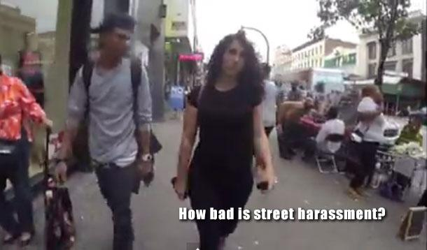 woman gets harassed on the street