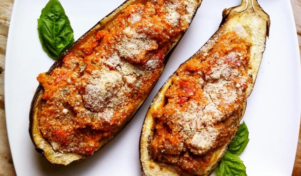 Quinoa Stuffed Eggplant Recipe
