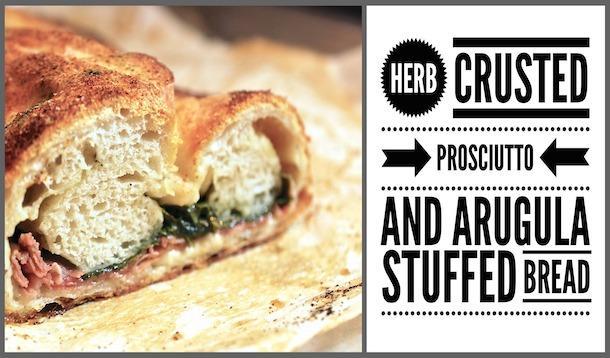 Prosciutto and Arugula Stuffed Bread