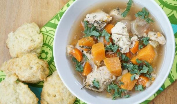 Sweet Potato and Chicken Soup | YummyMummyClub.ca