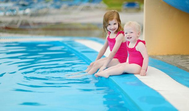toddlers swimming