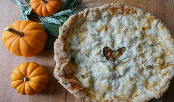 easy turkey pot pie from leftovers