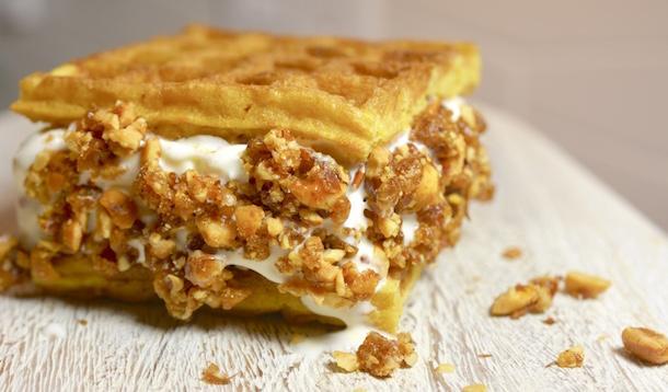 Cake Waffle Ice Cream Sandwiches | YummyMummyClub.ca