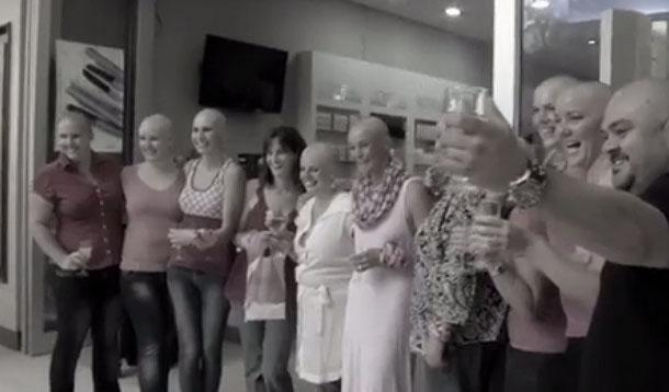 women supporting friend with cancer