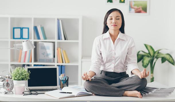 zen woman, yoga tips, stress holidays