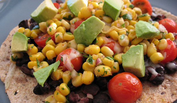 Vegetable Bean Tostadas Recipe