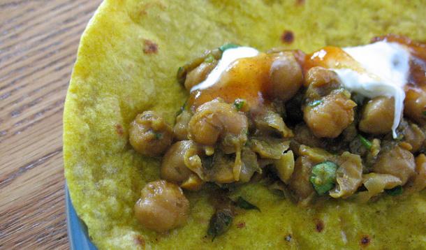 Curried Chick Pea Flatbreads Recipe