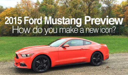 2015 Ford Mustang Preview - How do you make a new icon?