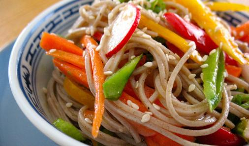 Summer Chicken Sesame Noodles Recipe