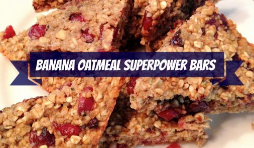 Allergen-free banana oatmeal superpower bars