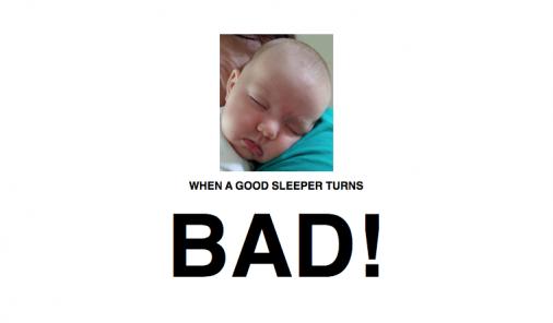 bad sleepers, newborns, sleep, sleep through the night, jen warman, sleep struggles, cursed, good sleepers, waking at night, night feedings