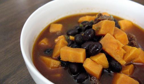 Sausage, Black Bean, and Sweet Potato Soup Recipe