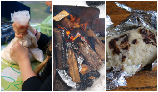 A bannock camping breakfast that's so easy to make your kids can do it for you