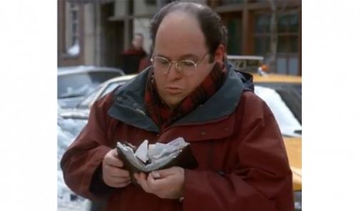 George Costanza and his giant wallet.