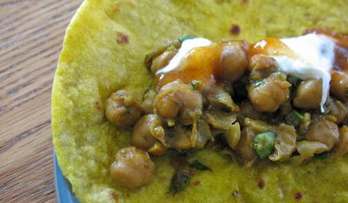 Curried Chick Pea Flatbreads Recipe