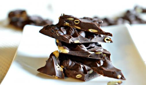 Dark chocolate bark is an easy and versatile hostess gift for the holidays