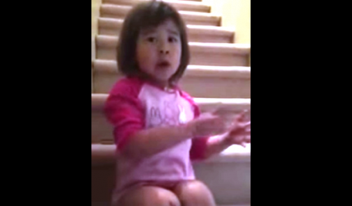 little girl asks divorced parents to be friends