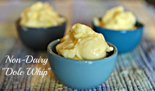non-dairy pineapple soft-serve