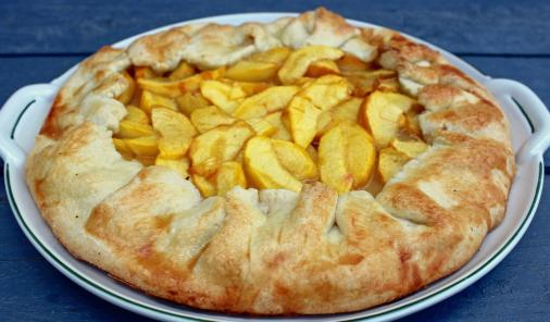 Simple to make peach pie