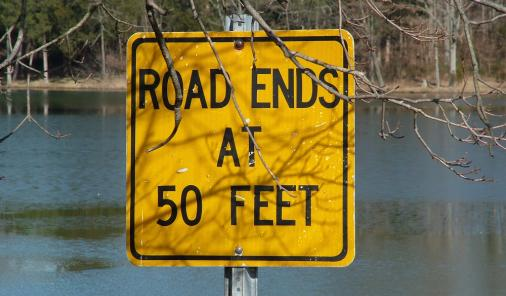 Road Ends at 50 Feet (picture)