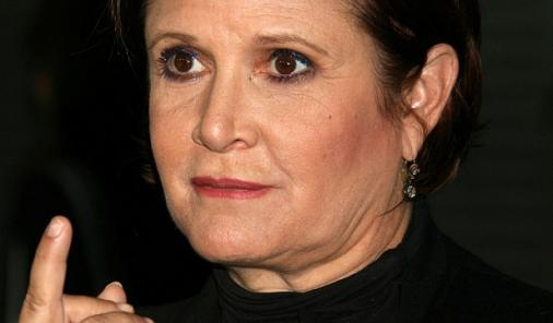 carrie-fisher-giving-finger-2009